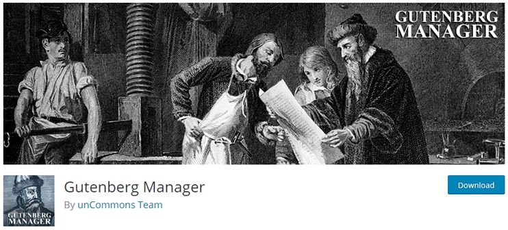 gutenberg block manager