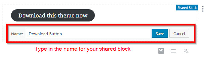 Gutenberg shared block name