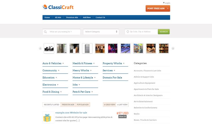 Classicraft theme for WordPress
