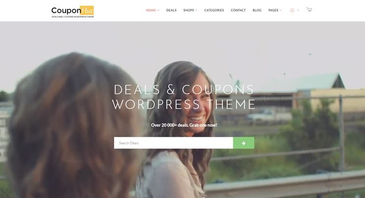 Coupon and deals WordPress Theme