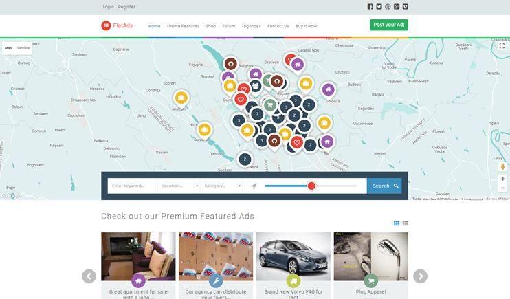 flatads Classifieds WordPress theme