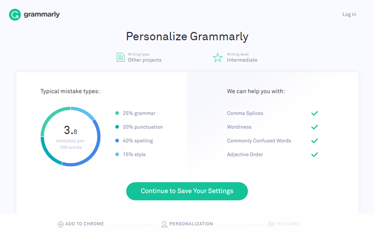 Grammar checker for blogs : Blogging tools