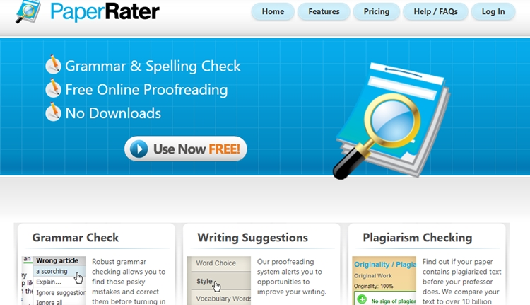 Blog tool Grammar checker