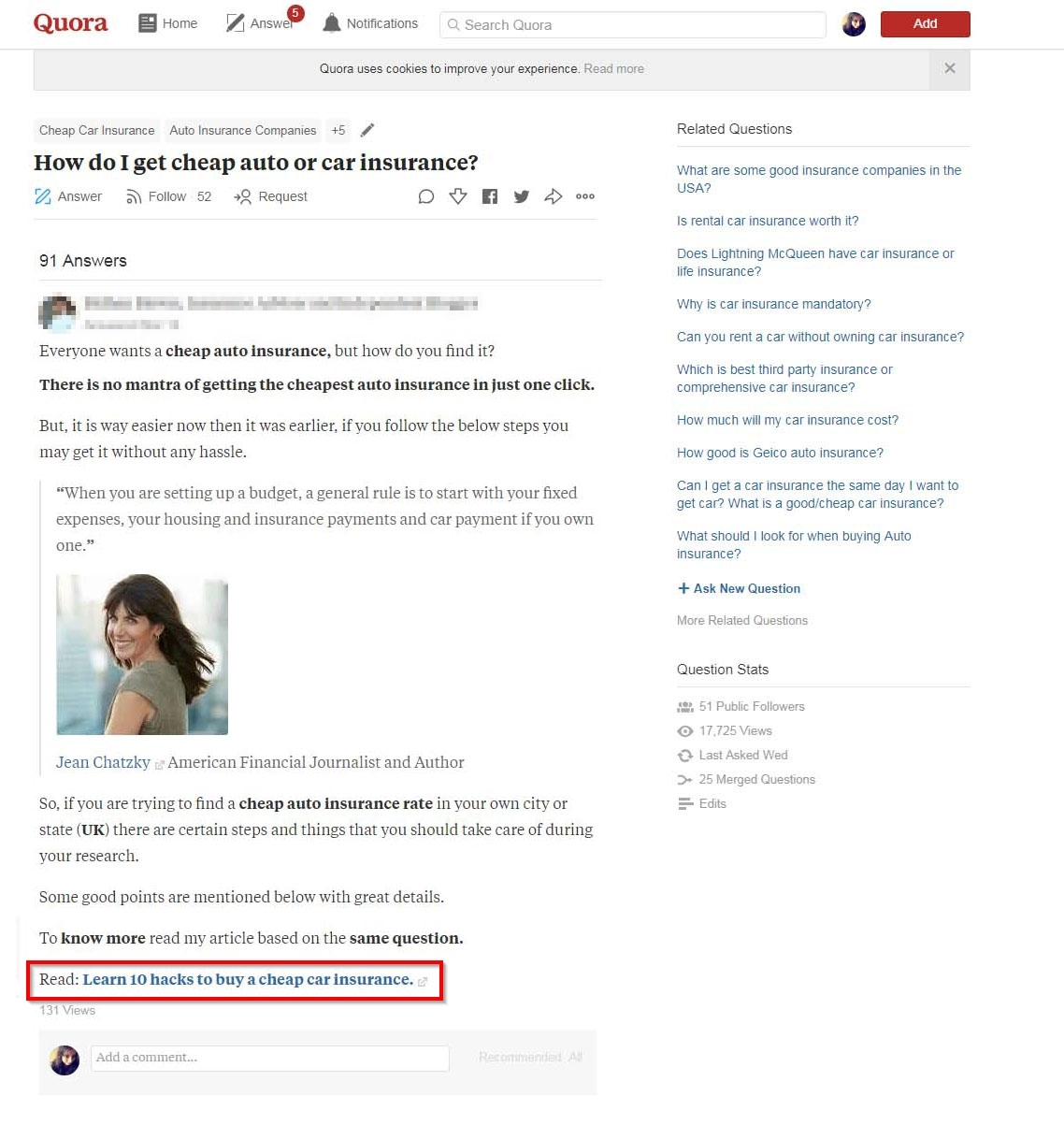 Quora to promote your blogs