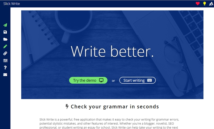 Writing tools for blogging