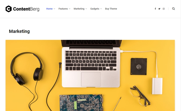 WordPress theme from bloggers