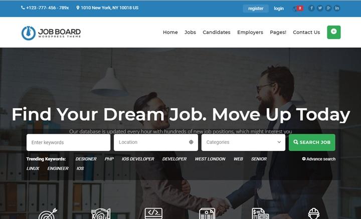 InJob multipurpose job WordPress theme