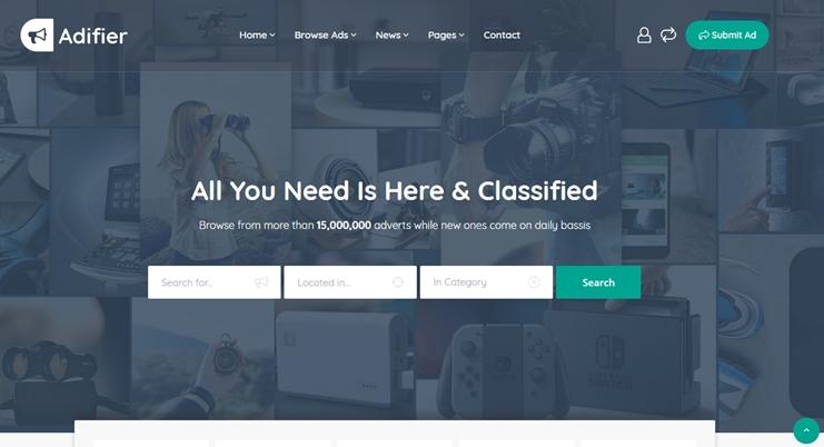 adifier ad posting WordPress theme