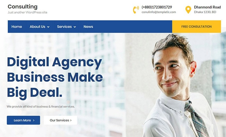 SEO friendly Business WP theme