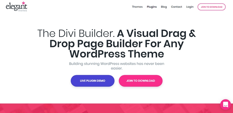 The Divi builder: Drag and drop page builder for WordPress
