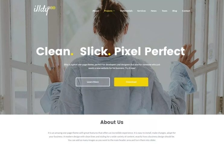 25 best and free wordpress business themes 2018 slashwp illdy wordpress theme illdy is one of the amazing free responsive wordpress business themes friedricerecipe Gallery