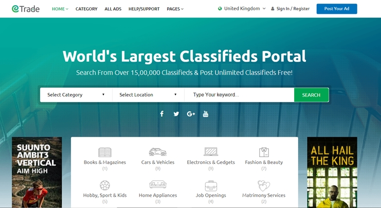 Trade Classifieds theme