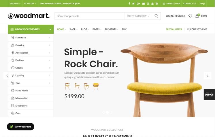 WoodMart - WooCommerce Theme, Best Premium WordPress Themes, themeforest