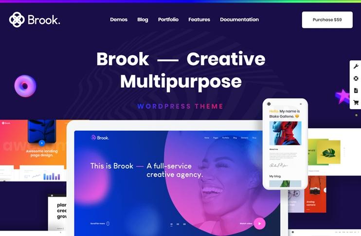 Brook - Responsive Multi-Purpose Theme, Best Premium WordPress Themes, themeforest
