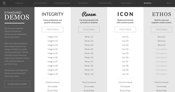 X theme customizations and designs