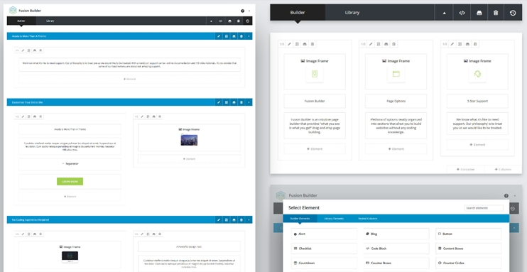Avada page builder