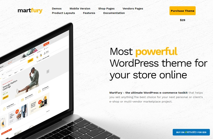 Martfury - Responsive WooCommerce Theme, Best Premium WordPress Themes, themeforest