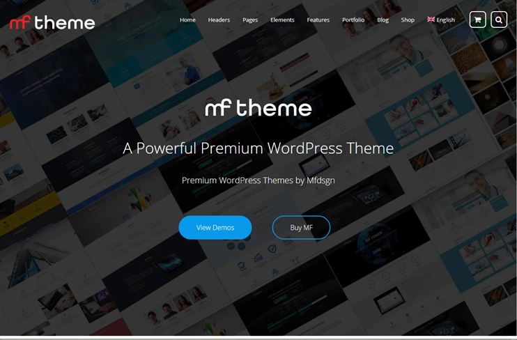 MF multipurpose WordPress theme at themeforest