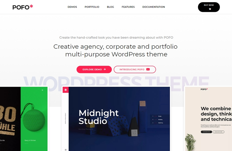 Pofo - Responsive Portfolio and Blog Theme, Best Premium WordPress Themes, themeforest