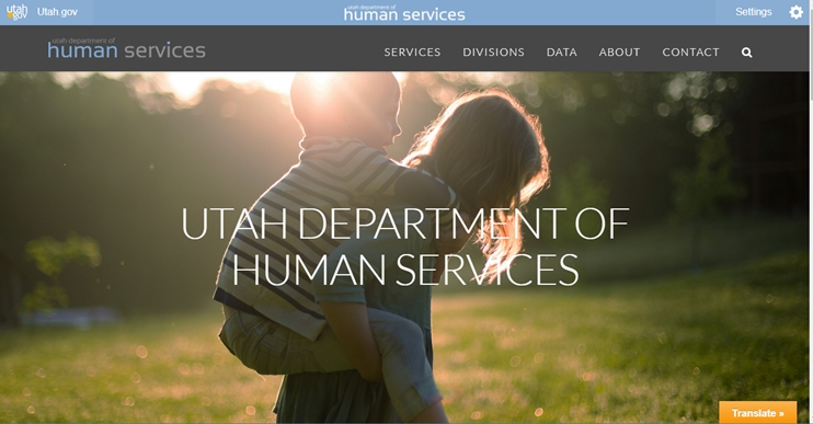 Utah Government website with X Theme