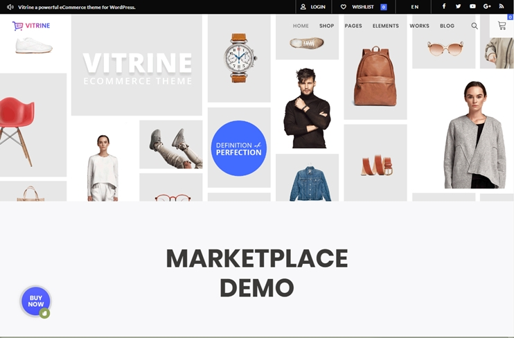 Vitrine WooCommerce WordPress theme at themeforest