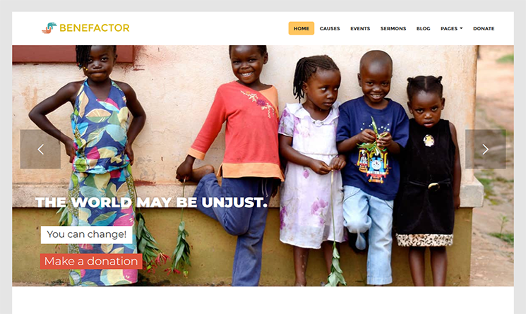 Benefactor WordPress Theme