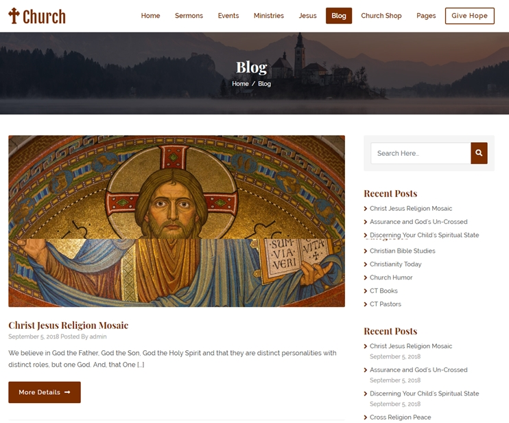 Build Church Website With WordPress In 3 Steps: Church Site Examples