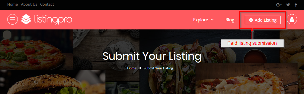 Paid Listing Submission