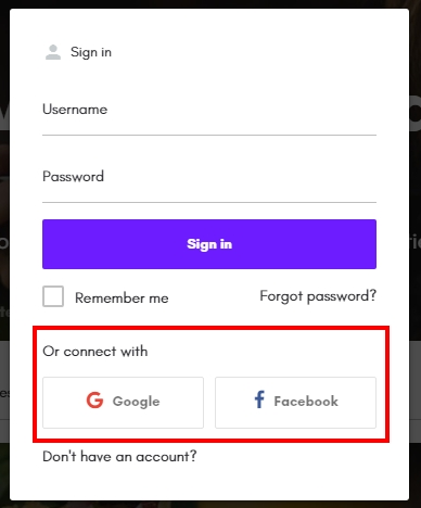 Social logins with the directory theme