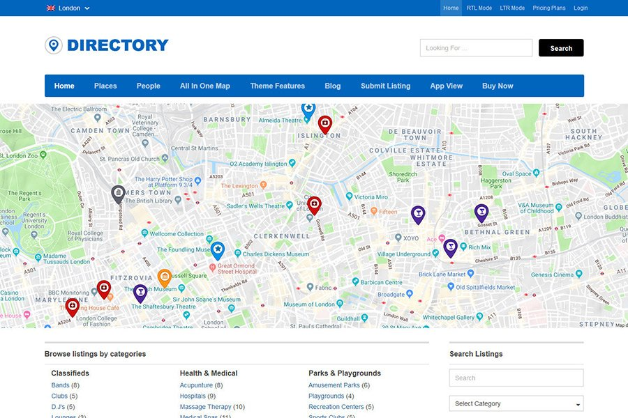 User generated content on a directory website