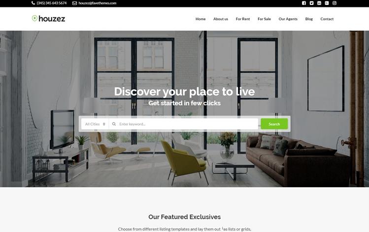 Houzez demo - Real estate agency