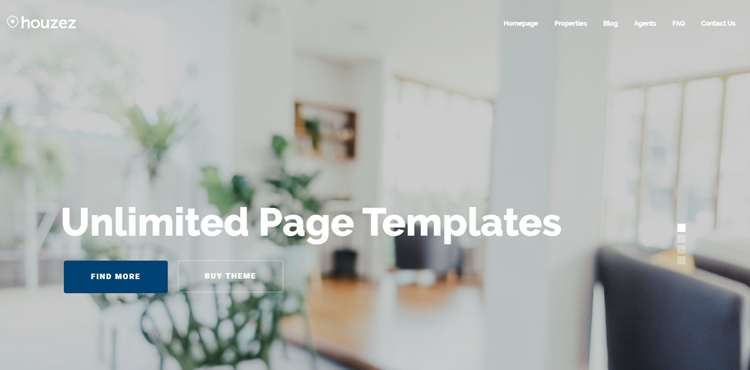 Page templates with Houzez