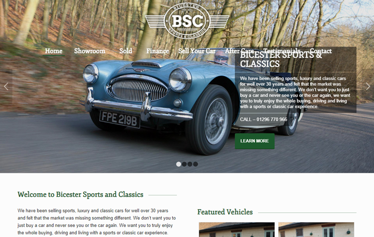 Bisecter sports car website with Enfold