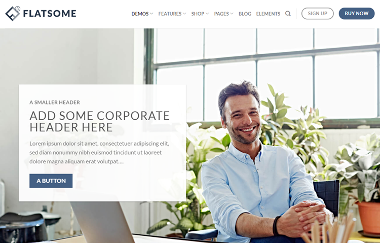 Flatsome theme for corporate websites