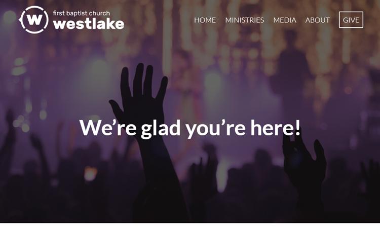 Church website built with Enfold