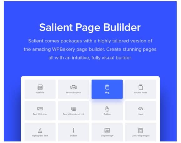 WP Bakery page builder with Salient Theme