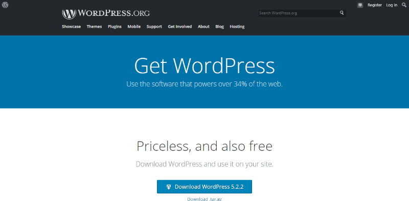 Download & install WordPress