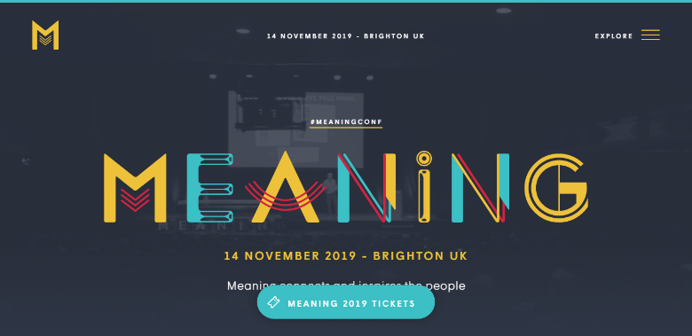 Meaning events website
