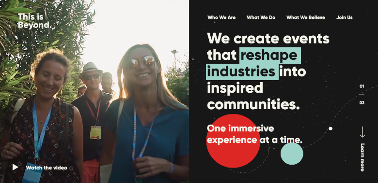 thisisbeyond event website