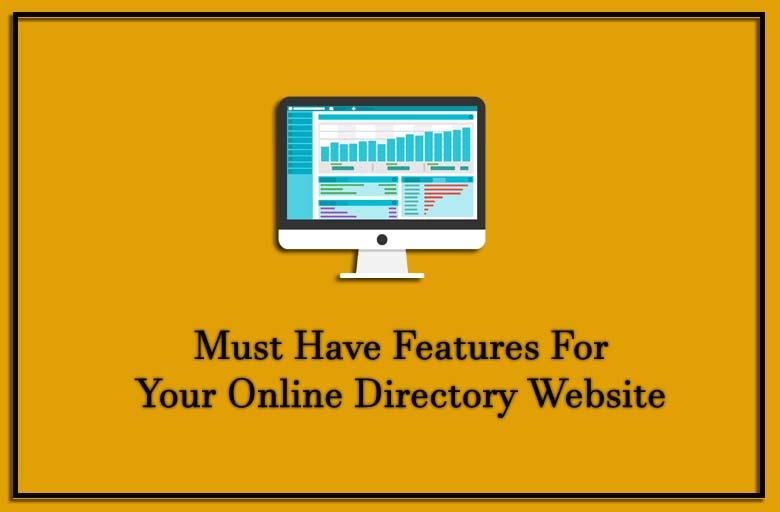 Directory website features