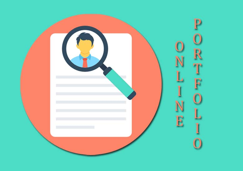 online portfolio pages on agency website