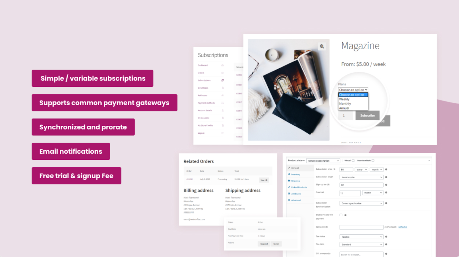 Subscriptions for WooCommerce by WebToffee