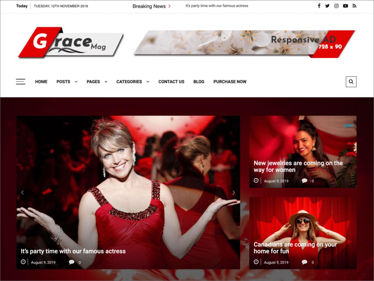 Grace Mag WordPress Theme<pdir=