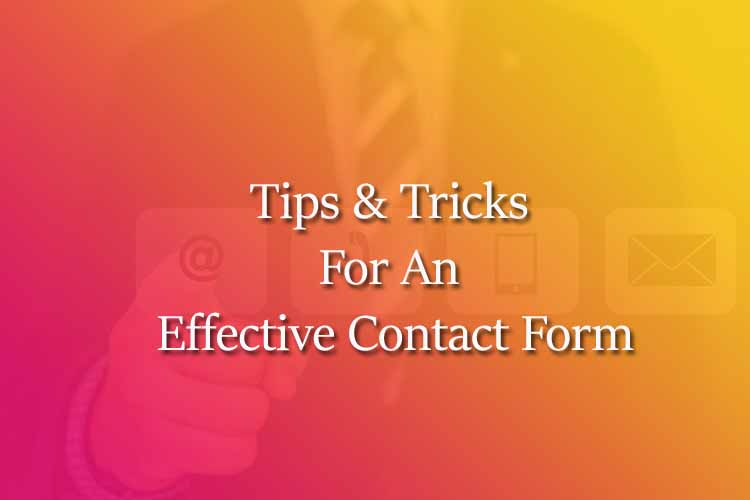 Contact form business website