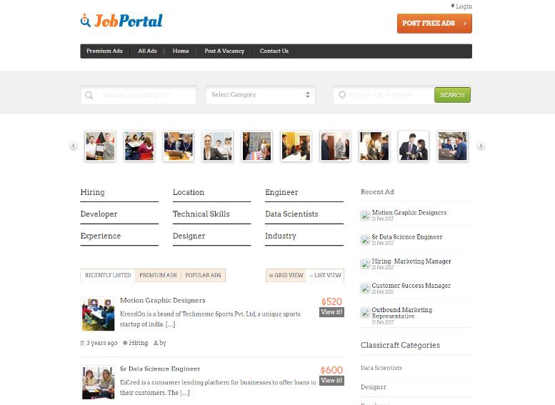 Job Board Portal WP Theme