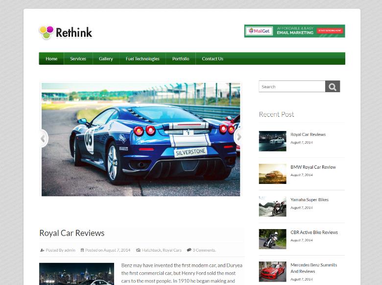 Rethink Blogging Theme