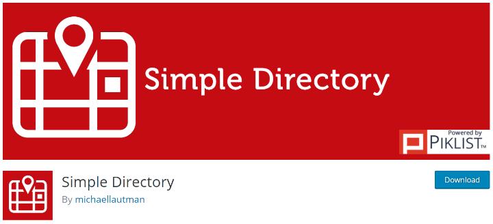 Simple directory wordPress plugin