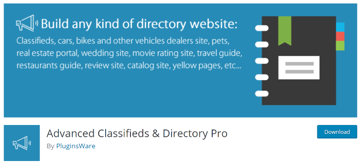 Advanced classifieds and directory pro