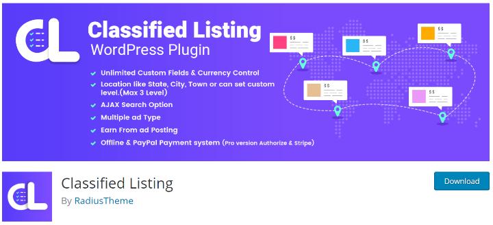 Classifieds plugin for WordPress