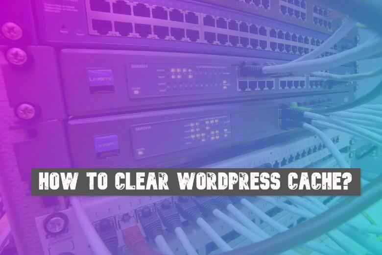 clear wiordpress cache